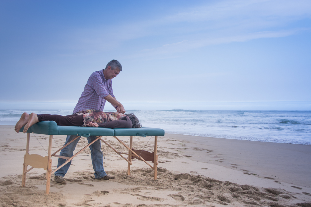 Portable Bed on Beach